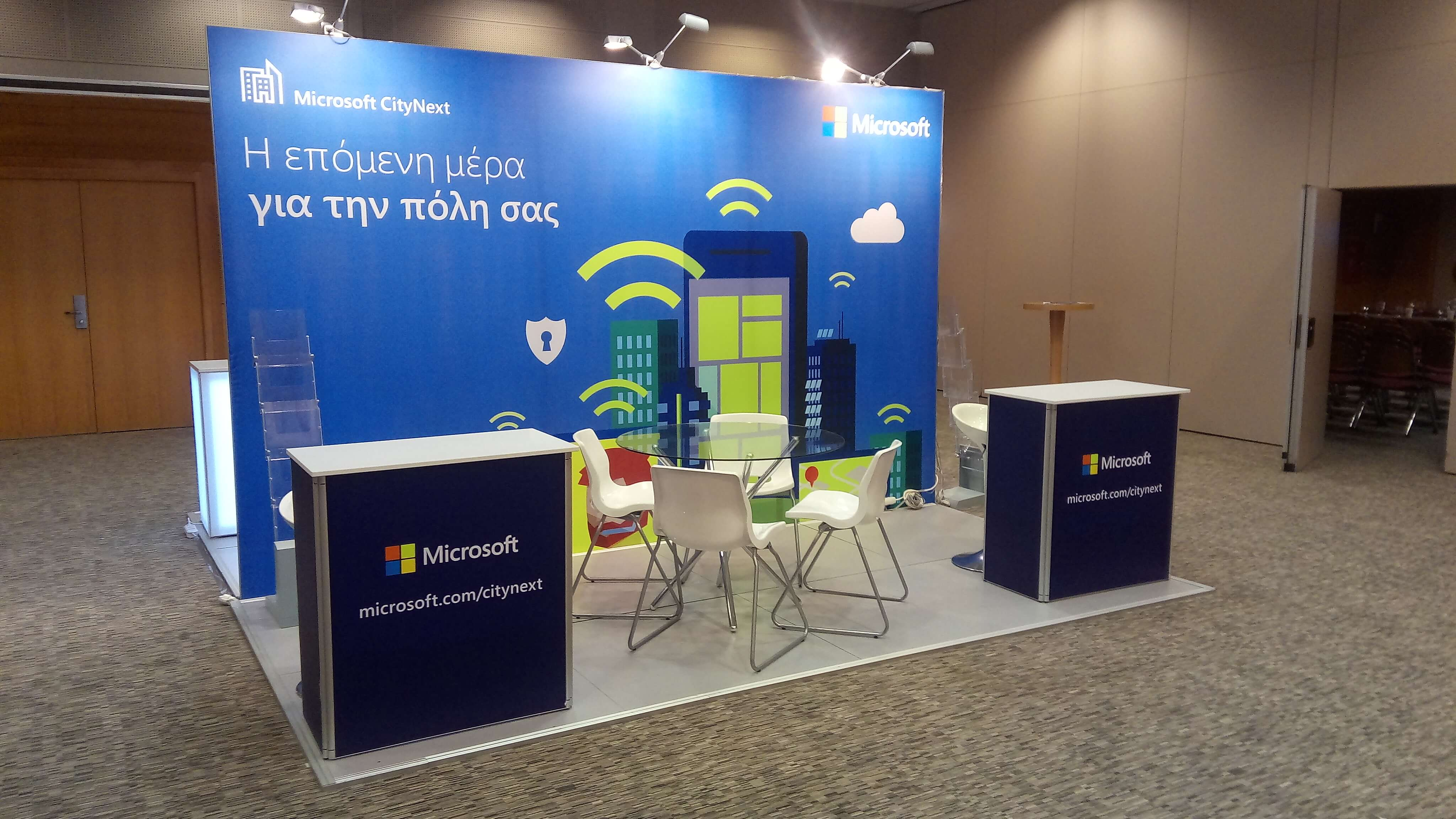 Backdrop For Exhibition Booth : Conference booths multiplo gr